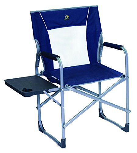 GCI Outdoor Slim-Fold Director's Camp Chair with Side Table.