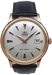 ساعة بامبينو الاوتوماتيكية بسوار جلدي وردي ذهبي من اورينت، طراز SAC00002W0