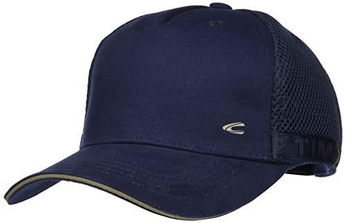 camel active Herren CAP-6-PANEL Schirmmütze, Blau (Navi 43), Large (Herstellergröße: L)