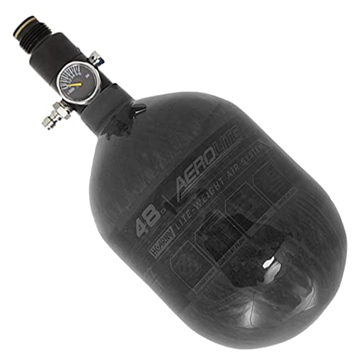 HK Army Aerolite Carbon Fiber HPA Paintball Tank Air System - 48ci / 4500psi (Smoke)
