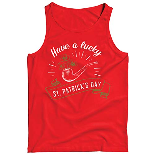 lepni.me Camisetas de Tirantes para Hombre Feliz Da de San Patricio en Irlanda Suerte Charms Fiesta Regalo (M Rojo Multicolor)