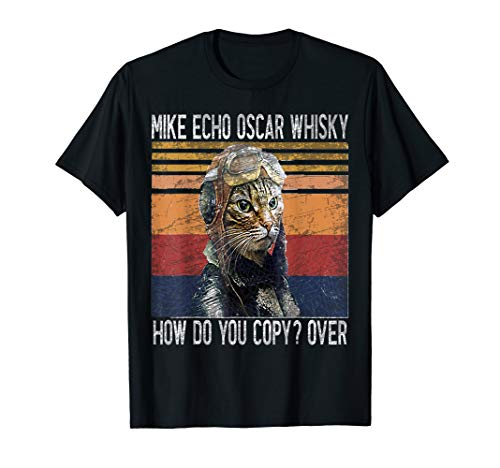 Mike Echo Oscar Whisky How Do You Copy Pilot Kitty Vintage T-Shirt
