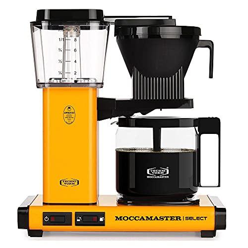 Moccamaster KBG Select Cafetera de filtro, 1520 W, 1.25 litros, Aluminio, Pimiento amarillo