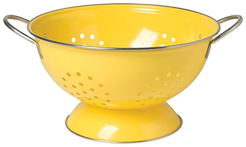 Now Designs Metal Colander, 3-Quart, Lemon Yellow