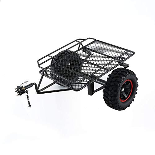 GoolRC Trailer Body for Trucks and Cars 1/10 RC Tracked Off-Road Vehicle Traxxas TRX-4 TRX4 axial SCX10 RC4WD D90 CC01 Metal Trailer