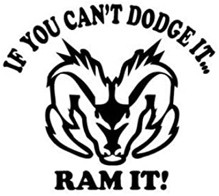 BD USA If You Can't Dodge It Ram It Decal, Decal Sticker Vinyl Car Home Truck Window Laptop