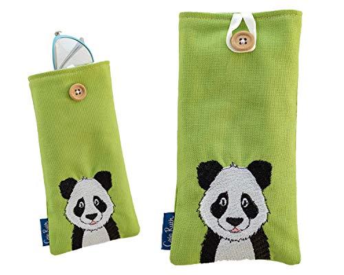 Clojo Ruth Funda para gafas Panda de tela suave, apta para gafas de sol o gafas de lectura, regalo perfecto para lectura, hecho a mano en el Reino Unido, sin plástico