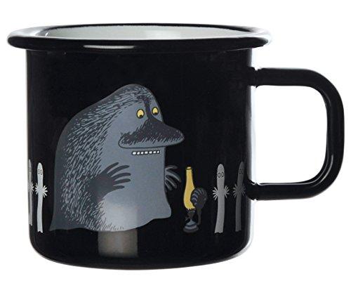 Moomin moumines - Tasse en émail Retro -la courabou- Noir, 3,7 DL (muurla Design) [1701-037-26]