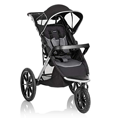 Evenflo Victory Plus Jogging Stroller, Gray Scale