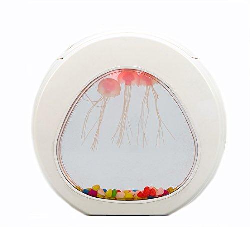 LIGHTOP LED Jellyfish Lampe Kreative Bunte wechselnde Nachtlicht Künstliche Quallen Schwimmen Aquarium Meer Welt Stimmung Lampe für Kinder Geschenke Dekoration