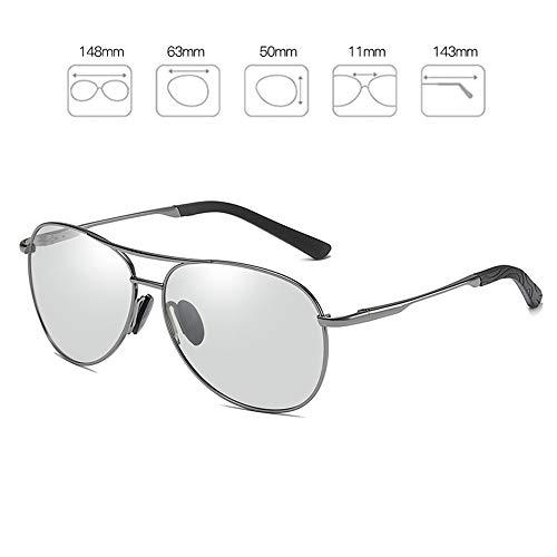 Bseack Polarisierte Sonnenbrille Adaptive Farbwechsel Sonnenbrillen for Männer Tag und Nacht Universal Sports polarisierte Sonnenbrille UV400 Schutz Lernbare flexiblen Rahmen for Golf Angeln