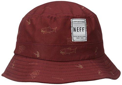 NEFF Trouty Bucket Hat Casquette Mixte Adulte, Maroon, FR : (Taille Fabricant : U)