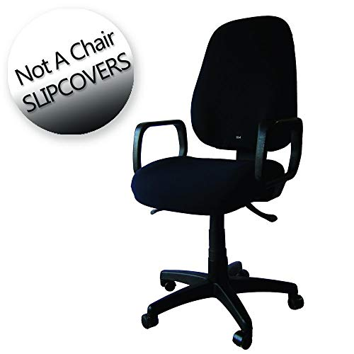 Office Chair slipcover - Seat x - one Size fit All, Adjustable Full Cover. Universal, (Hot Pink)