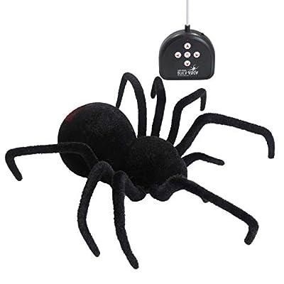 DJL Fun Realistic Remote Control Giant RC Black Widow Spider 4-Way Remote Control Toy