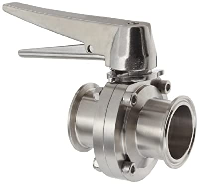 "Dixon B5101S200CC-C Stainless Steel 316L Butterfly Valve with Trigger Handle and Silicone Seal, 2"" Tube OD by Dixon Valve & Coupling"