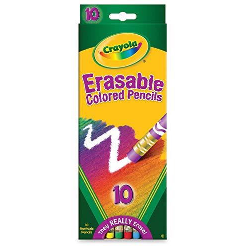 Crayola 071662044107 68-4410 Erasable Colored Pencils 10 Count