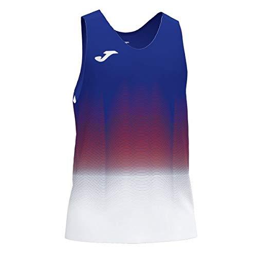Joma Elite VII Camiseta Running sin Mangas, Niños, Royal-Blanco, 2XS