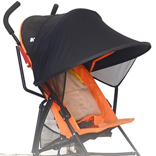 BAYINBROOK Pare-soleil Poussette Bébé Universelle,Housse de soleil pour poussette bébé, Poussette pour bébé Couverture de soleil pour poussette pare-soleil (Basic)