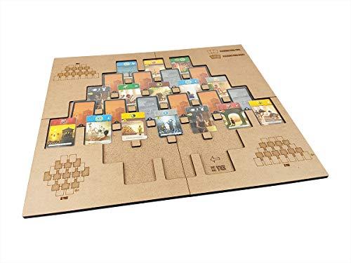Playmat em MDF para 7 Wonders Duel - Modelo 2 - COM CASE, Bucaneiros Jogos