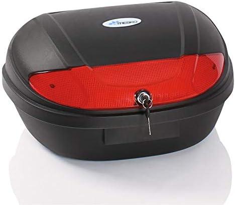 XXL 48L TOP CASE coffre, Scooter Moto Quad valise top case universel de moto contient jusqu'à 2 casques