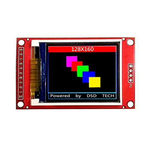 DSD TECH 1.8 Inch TFT LCD Display Module with SPI Interface for Arduino and MCU