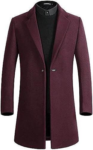 Fvbuhhi Manteau de Poil Hommes Hommes Hommes, Manteau de Poil Long Manteau de Poil,Gules,XXXL,