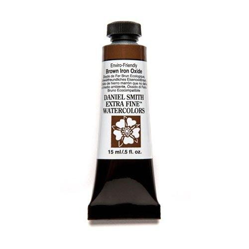 DANIEL SMITH Extra Fine Watercolor 15ml Paint Tube, Enviro-Friendly, Brown Iron Oxide (284600178)