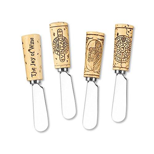 Vintage Wine Cork Cheese Spreaders Set of 4