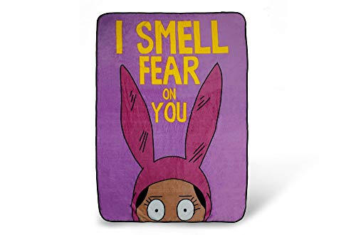 Bob's Burgers Louise Throw Blanket | I Smell Fear On You | 64 x 44 Inches