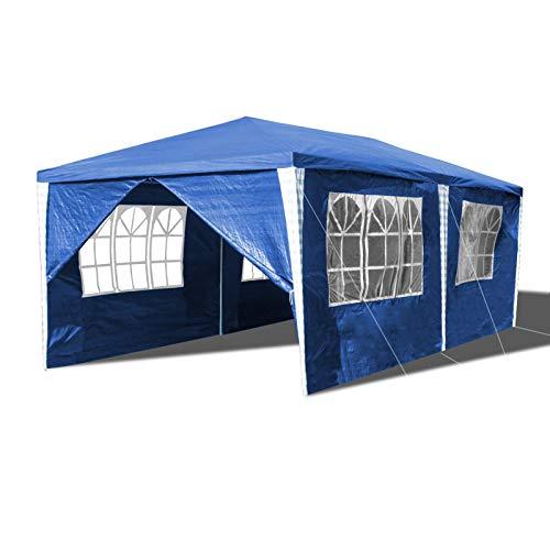 Hengda Pavillon 3x6m Wasserdicht Partyzelt Stabiles Partyzelt Festzelt Material PE-Plane mit 6 Seitenteilen für Party Festival Messestände