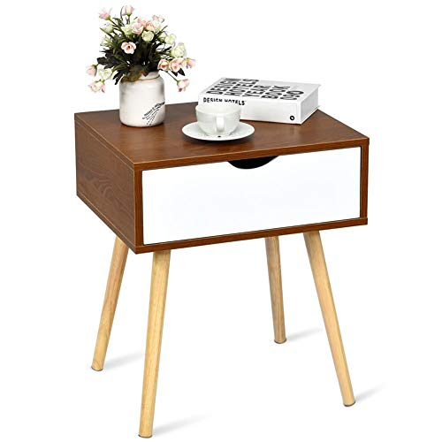 Nightstand with drawers End Side Sofa Table Storage Drawer Living Room