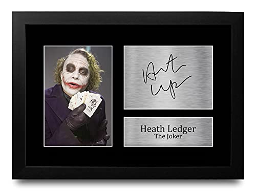 HWC Trading Gift Voor Heath Ledger Signed Ontworpen A4 Printed Handtekeningen The Joker Batman Gifts Print Picture…