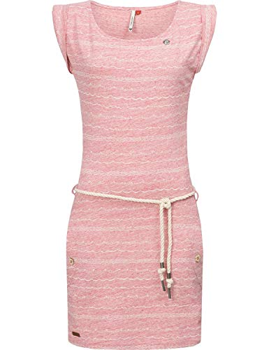 Ragwear Damen Kleid Dress Sommerkleid Strandkleid Jerseykleid Freizeitkleid Tag Waves Red Melange20 Gr. M