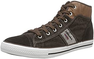 Nebulus T456 Sneaker HIGH Nevada, Leder, Vintage-Look, Schuhe