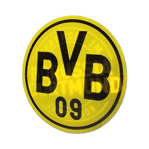 Borussia Dortmund Aufkleber, Autoaufkleber, Sticker Lentikular-Effekt, Wechselbild 2in1 BVB 09 - Plus gratis Aufkleber Forever Dortmund