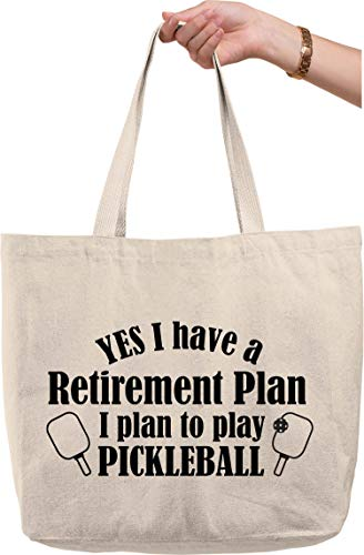 Yes I have a retirement plan… pickle ball funny sports game Natural Canvas Tote Bag funny gift