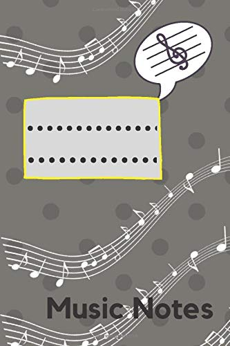 Music Notes Notebook: Musical Notebook &Music