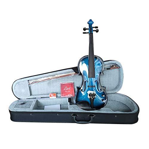 VIOLINO DI ZEST elettrico acustico Blu Burst 4/4 dimensioni VIOLINO CON ARCHETTO & imbottito Custodia Alta Qualità ARTIGIANATO
