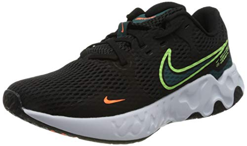 Nike Renew Ride 2, Scarpe da Corsa Uomo, Black/Lime Glow-Dk Teal Green-White-Atomic Orange, 46 EU