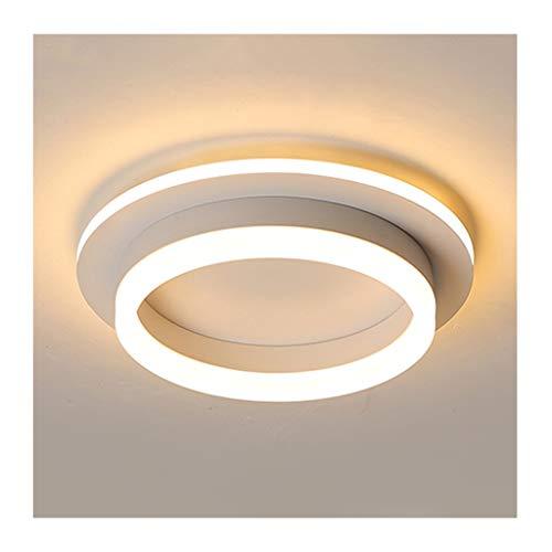 GPZ-iluminación de techo Luz de techo - Lámparas de techo LED regulables Negro Blanco, Morden hierro redondo acrílico simple, Decoración de sala de estar Dormitorio Estudio Iluminación del hotel [Clas