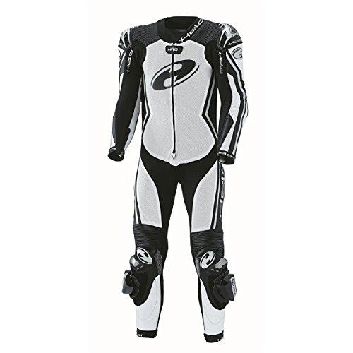 Held Combinaison Full Speed en cuir de kangourou d'une seule pièce, couleur blanc/noir, taille 44