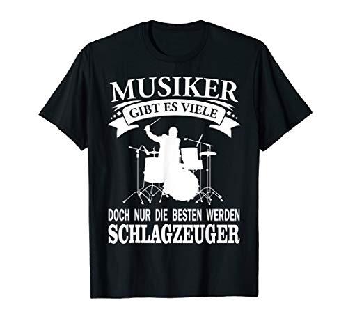 Herren T-Shirt Schlagzeug Spruch Instrument Musik
