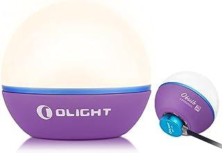 Olight Obulb Mini Lampe Boule LED Rechargeable Multifonctionnel avec 4 Modes d'Éclairage, Boule Lumineuse légère 55 Lumens...
