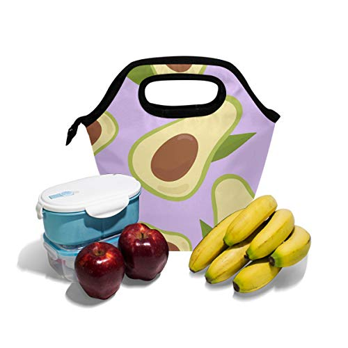 MrXZY Avocado Lunch Bag for Boy for Girl Fruit Pattern Insulated Lunch Box for Women Men Lunch Tote Cooler Ice Handbag Lunch Bag 2010096
