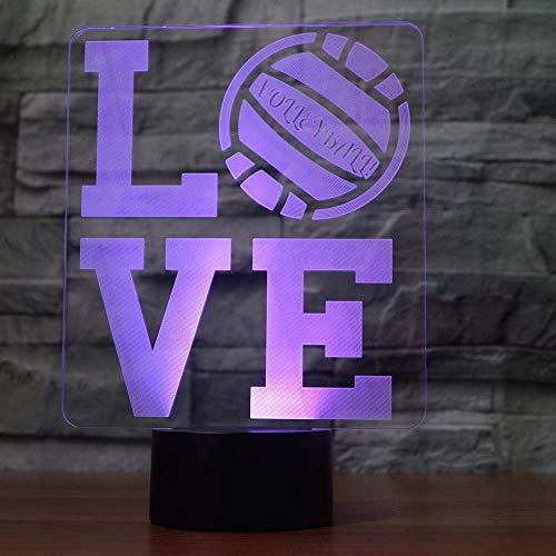 Nachtlampje, 3D-nachtlampje, liefdesensor, verrekijker, kantoor, decoratie voor slaapkamer, ontvangstkamer, het beste cadeau voor kinderen