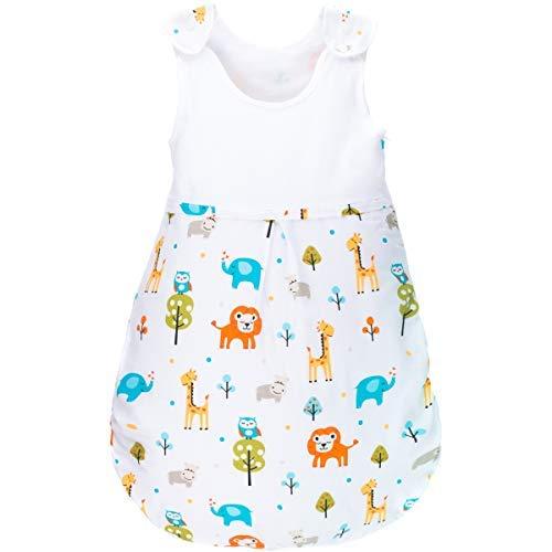 Sommerschlafsack 100% Baumwolle mit Belüftungseinsätzen Schlafsack Kind Baby (Ärmellos) (110cm, DSCHUNGEL)