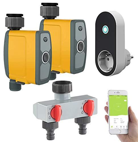 Royal Gardineer Bewässerung App: WLAN-Bewässerungscomputer, Bewässerungsventil, 2-Wege-Verteiler, App (Bewässerungscomputer Apps)