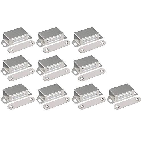 Edelstahl Magnet Türschließer Edelstahl Magnetverschluss Schrank Stainless Steel Door Magnet Schranktür Magnet Cupboard Magnets für Schranktür Möbel Balkontür Möbelbeschläge (10 Stück)