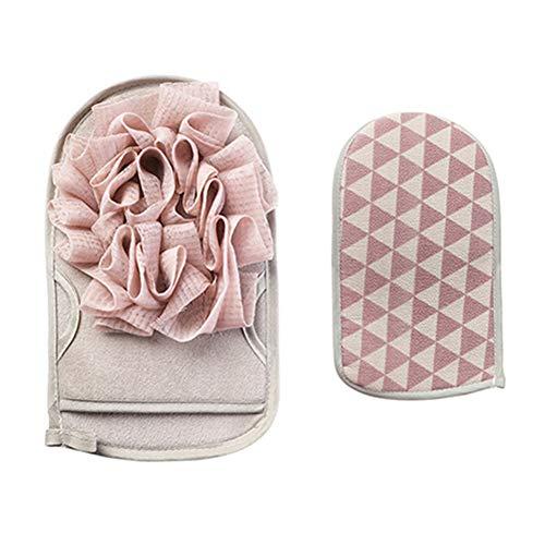 Csheng Esponjas De Baño Toalla De Lavado Toalla De Baño Guantes De Baño Artículos De Tocador De Doble Cara para El Hogar Flor De Baño Limpiar El Polvo Frotar Barro para Mujeres Hombres Pink
