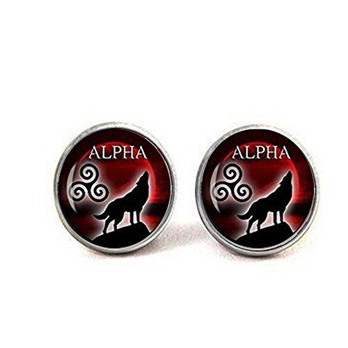 nijiahx Alpha earrings teen wolf earrings teen wolf jewelry I am the alpha earrings wolf jewelry blood full earrings celtic Triskele jewelry